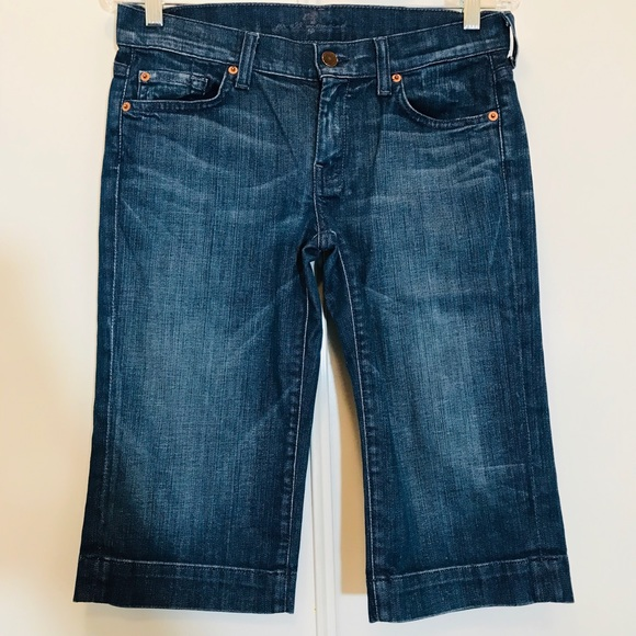7 For All Mankind Denim - 7 for Man Kind Dojo Crop Jeans Style S202381S 381S